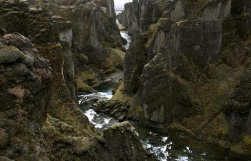 nature landscape mountains cliffs lush