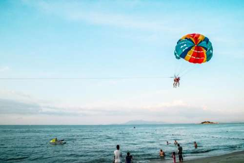 crafts hobby paragliding nature beach