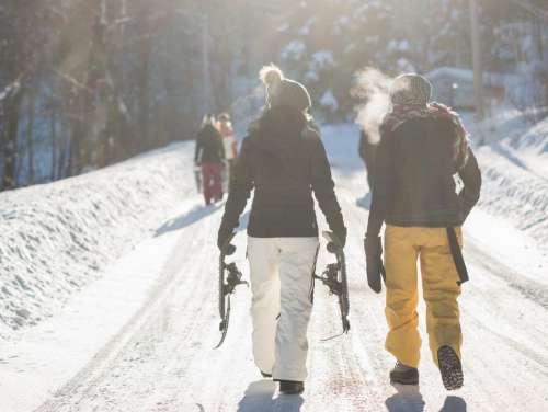 people men travel outdoor snow