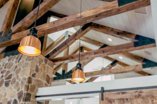 interior design lamps lights stone