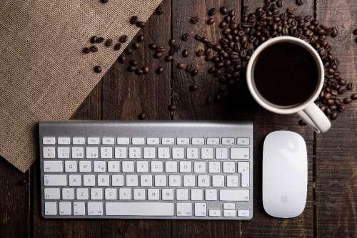 keyboard coffee mouse apple mac