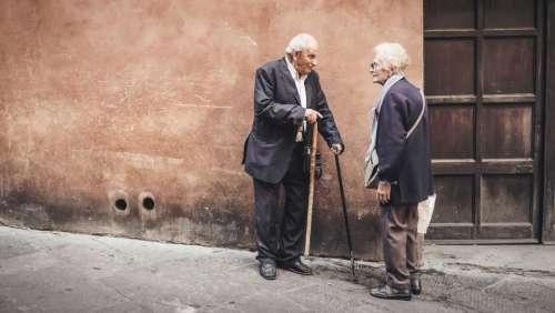 people old elderly man woman