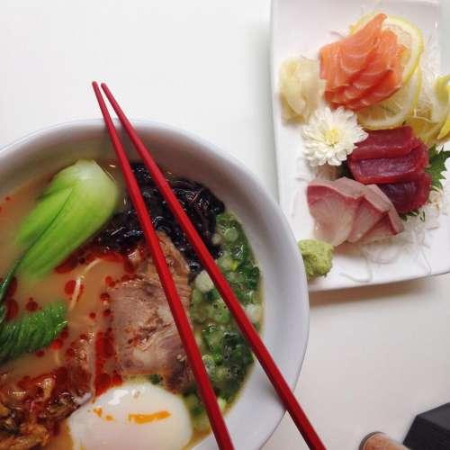 pho soup sushi sashimi fish