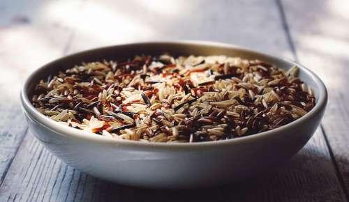 food rice brown rice wholegrain eating healthy