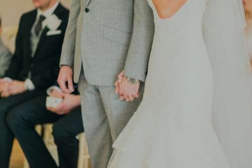 wedding ceremony bride groom romantic love