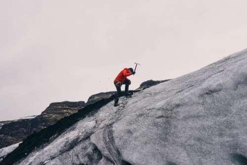 mountain climber pickaxe people