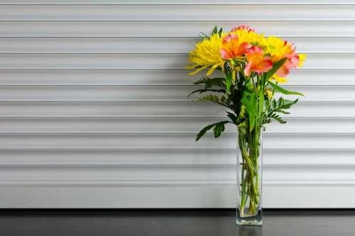 bouquet flowers vase