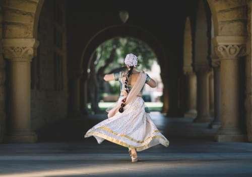 building hallway people woman dancing