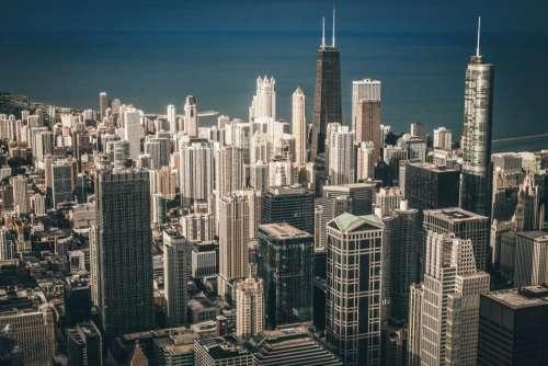 skyline city architecture building structure
