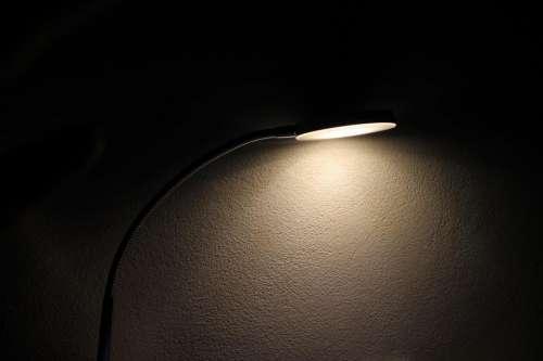 lamp light bulb wall dark