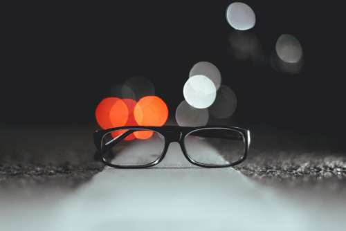 eyeglasses frame lens bokeh light