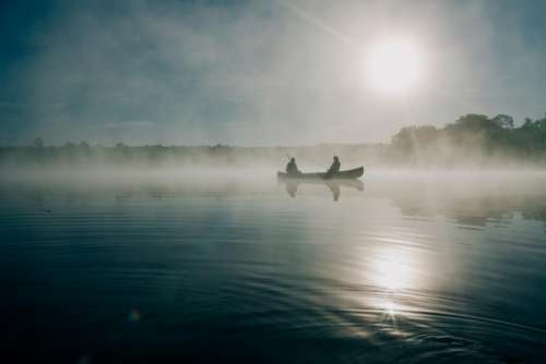 boat lake water canoe boating