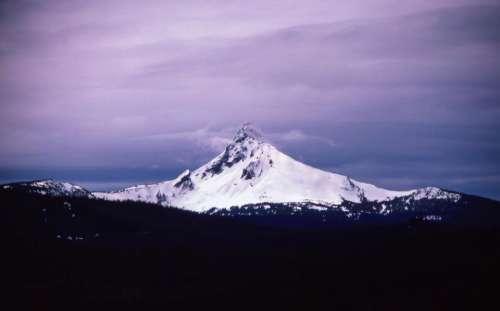 purple sky clouds mountain mountains