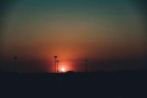 sunset dusk night evening dark