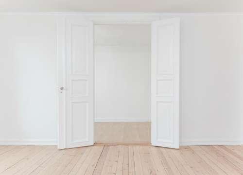 interior indoor white wall open