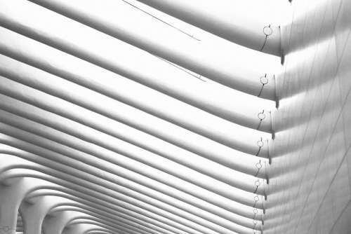 building curves texture architecture black and white