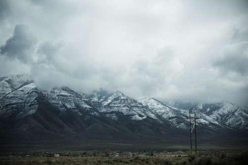 nature landscape mountains slope snow