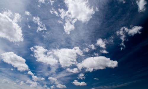 clouds blue sky earth