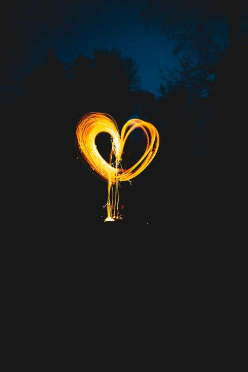 photography heart light painting nature