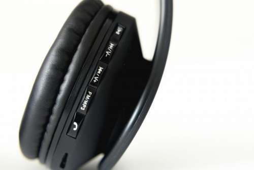 headphones headset music black speaker