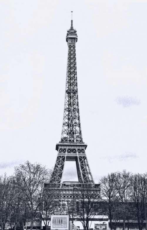 eiffel tower france historic paris landmark