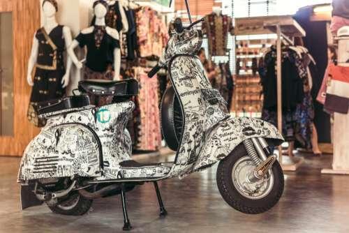 vintage scooter process vespa motorcycle