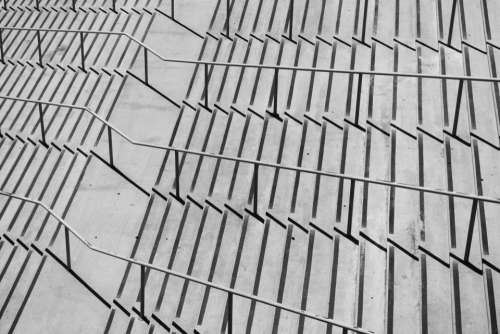 stairs steps concrete architecture railings