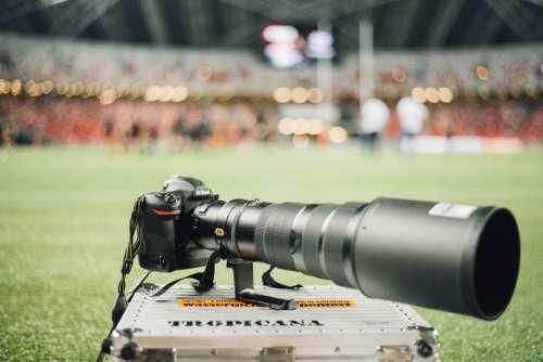 green grass field camera photography