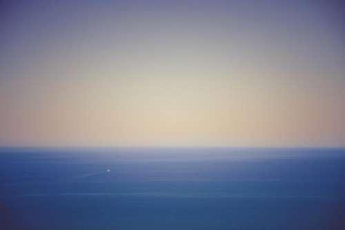 ocean sea boat horizon sky