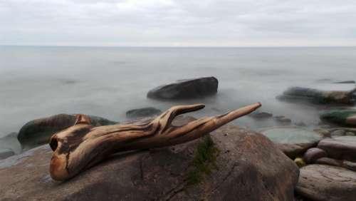 sea ocean water nature rocks
