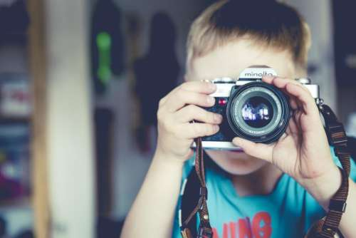 people. child boy camera minolta photography