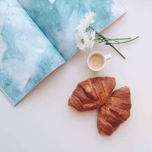 espresso coffee croissants breakfast food