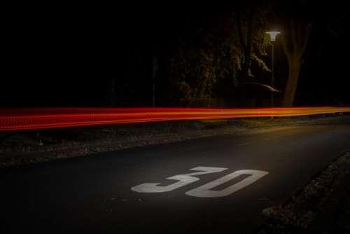 street road pavement lights lamp post