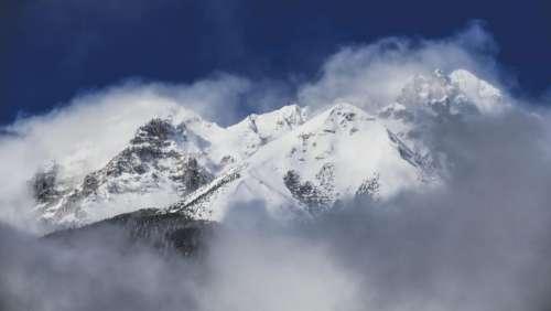 nature landscape mountain fog travel