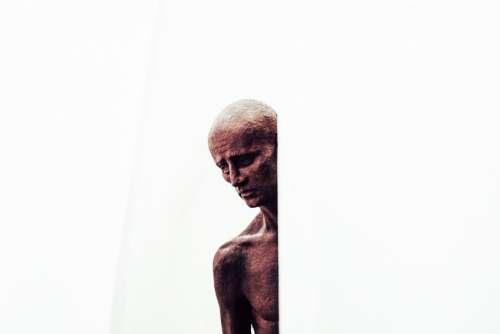 people old man sculpture art