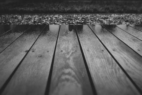 wood deck terrace wet raining