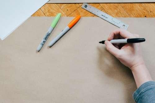 pen color write draw board