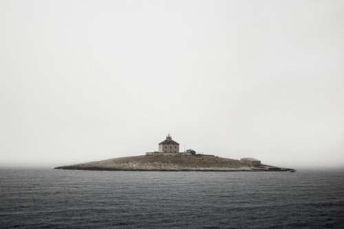 sea water ocean island building