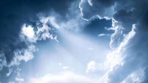 blue sky clouds nature sunlight