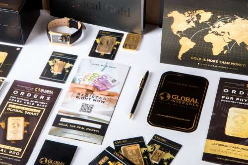 gold chip sticker card business