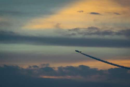airplane jet aviation sky sunset