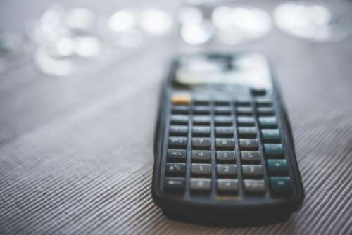 calculator numbers accounting finance business