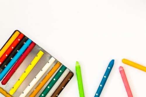 colorful crayons school supplies color
