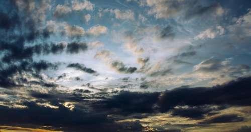 dark clouds sky nature sunset