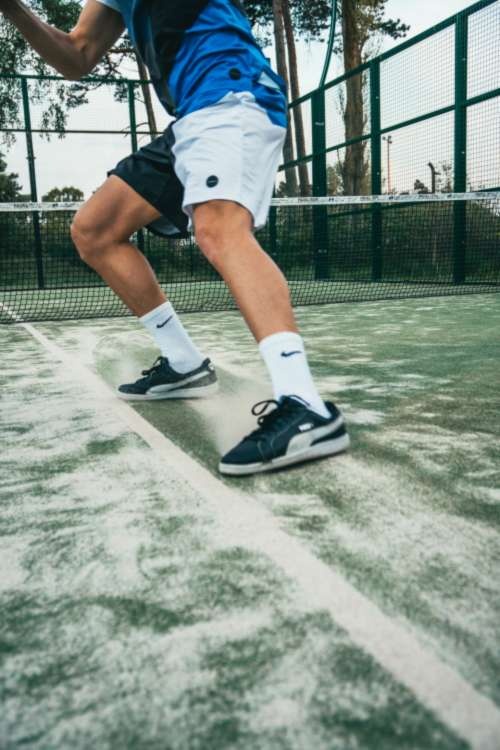 tennis player action summer court