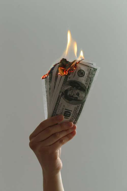 money hand bills currency financial