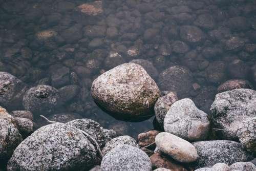 rocks stone nature water liquid