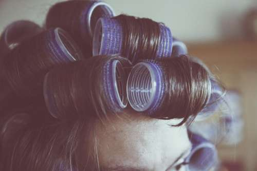 hair curls rollers hairstyle stylist