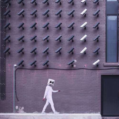 building wall structure cctv security