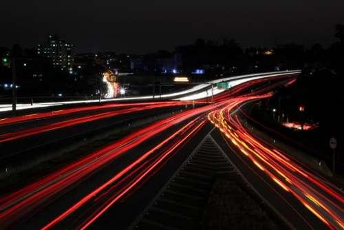 freeway road street dark night